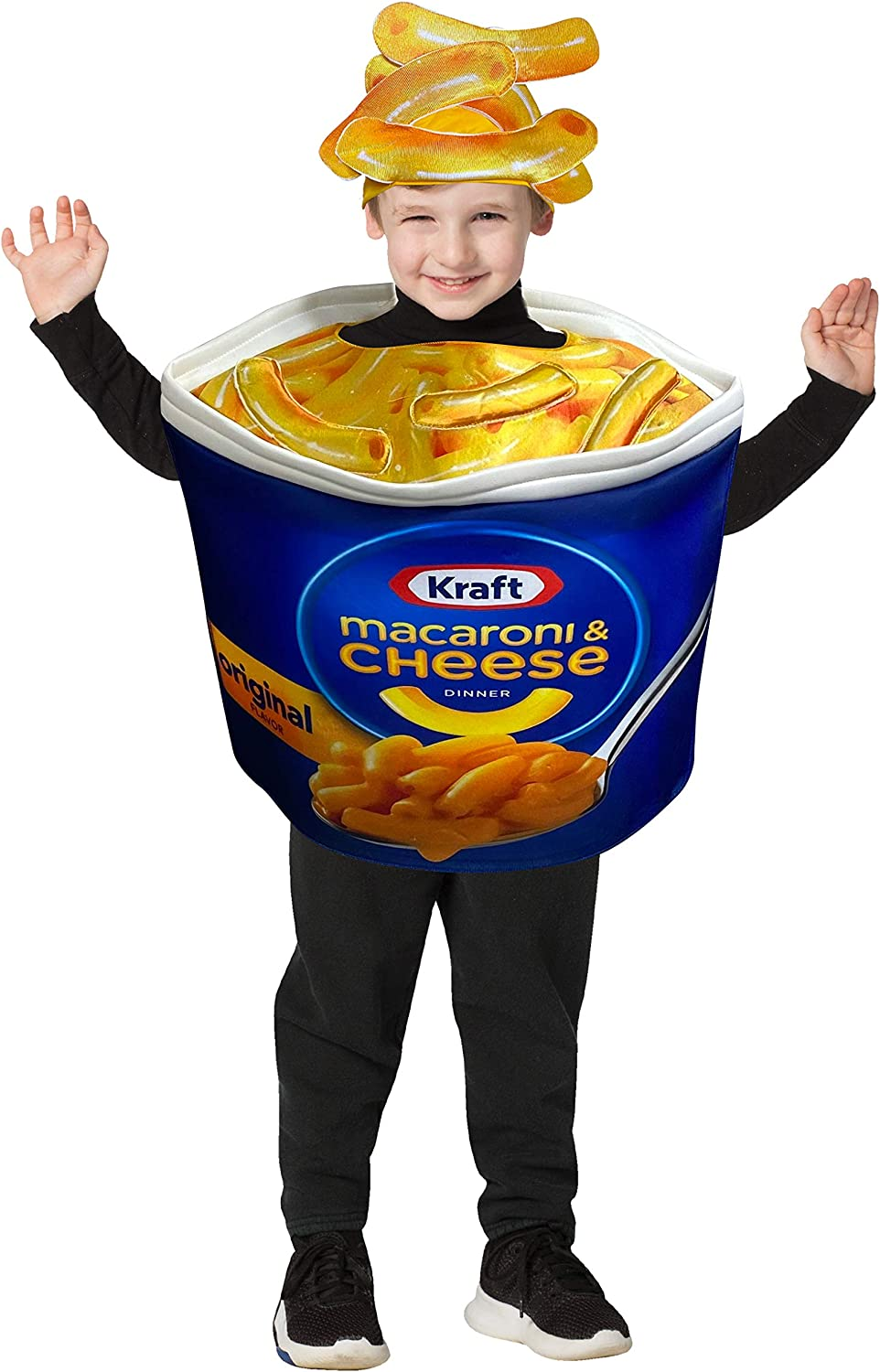 Kraft Macaroni and Cheese Cup Costume Macaroni Quick Kids Party Cospaly Dress Up Halloween Costumes, Child Size 4-6
