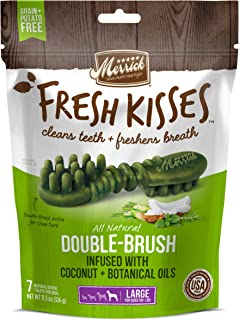 Merrick Fresh Kisses Large Oral Care Dental Dog Treats; for Dogs Over 50 lbs