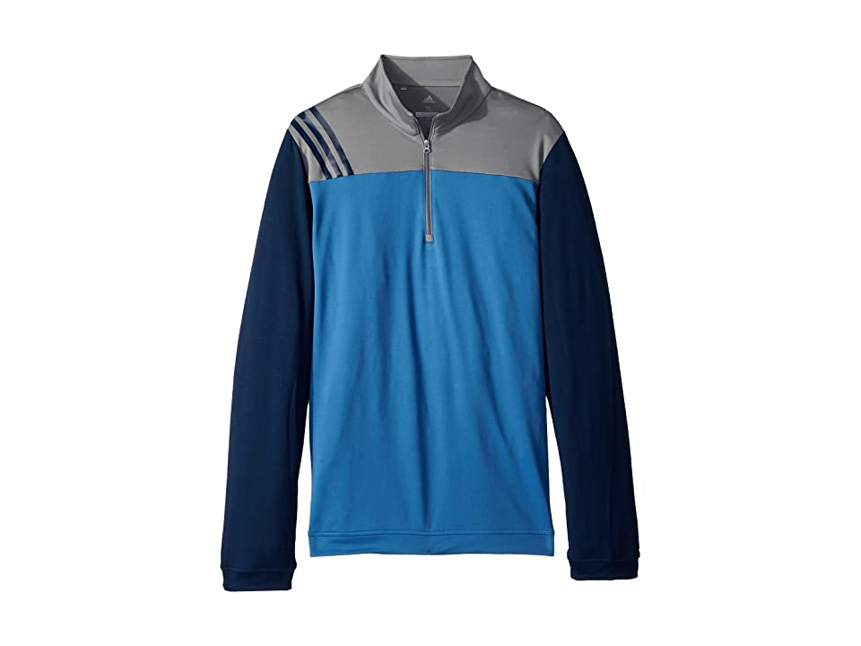 Image of adidas Golf Kids 3-Stripe Layering Jacket (Big Kids) (Trace Royal) Boy's Coat