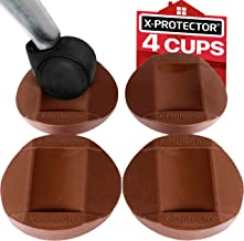 X-PROTECTOR Furniture Cups 4 PCS - Premium Rubber Caster Cups Furniture Coasters – Best Bed Stoppers - Floor Protectors for All Floors & Wheels