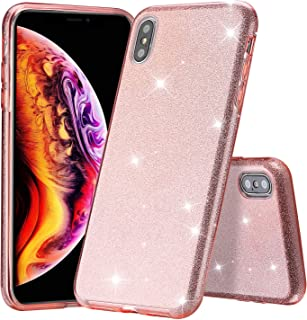 ProCase Glitter Case for iPhone Xs Max, Cute Sparkle Bling Luxury Soft Bumper Case Protective Cover (Supports Wireless Cha...