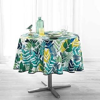 douceur d'intérieur Nappe Ronde (0) 180 cm Polyester Imprime Palma Blanc