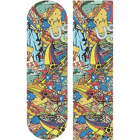 MNSRUU Mandala buntes Skateboard Griptape Blatt Scooter Deck Sandpapier 22,9 x 83,8 cm