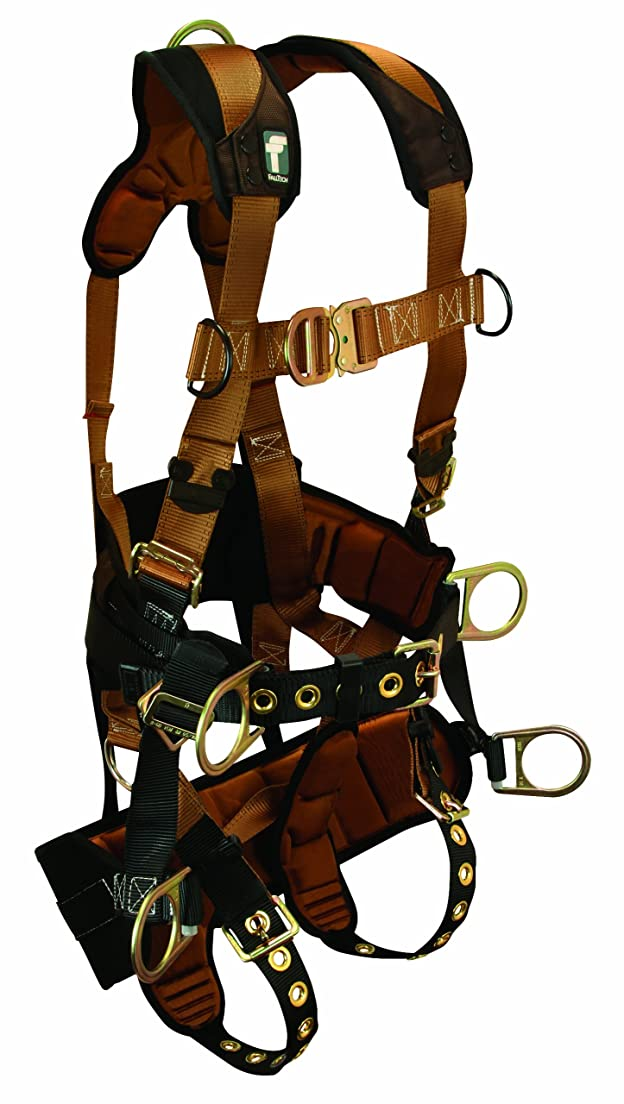 日没賢明な柱TOWER CLIMBER HARNESS - FallTech Harness With Seat & Back Support 7084L by FallTech
