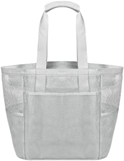 Large Mesh Beach Bag Tote Bag for Swimming Shopping Bag Travel Bag W/Pockets and Zipper