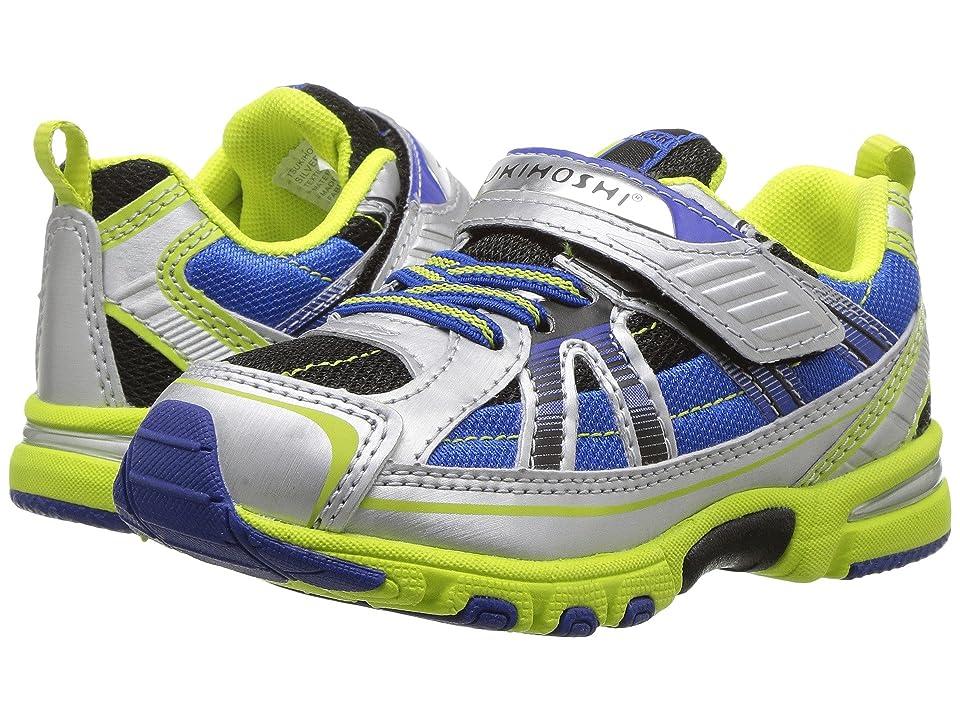 Tsukihoshi Kids Storm (Toddler/Little Kid) (Silver/Lime) Boys Shoes