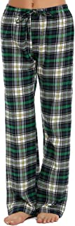 Pajama Pants Womens Soft Flannel Plaid Sleep Bottoms with Elastic Waist S-XXL