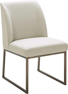 "Rivet Contemporary Dining Chair, 34""H, Chalk"
