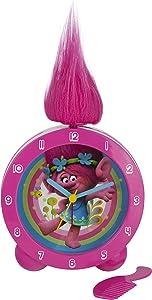 Trolls Topper Alarm Clock, Rosa, 5.5x 11x 15cm