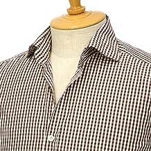 [Giannetto【ジャンネット】]ギンガムチェックシャツ VINCIFIT 92031268370V81 004 コットン ブラウン
