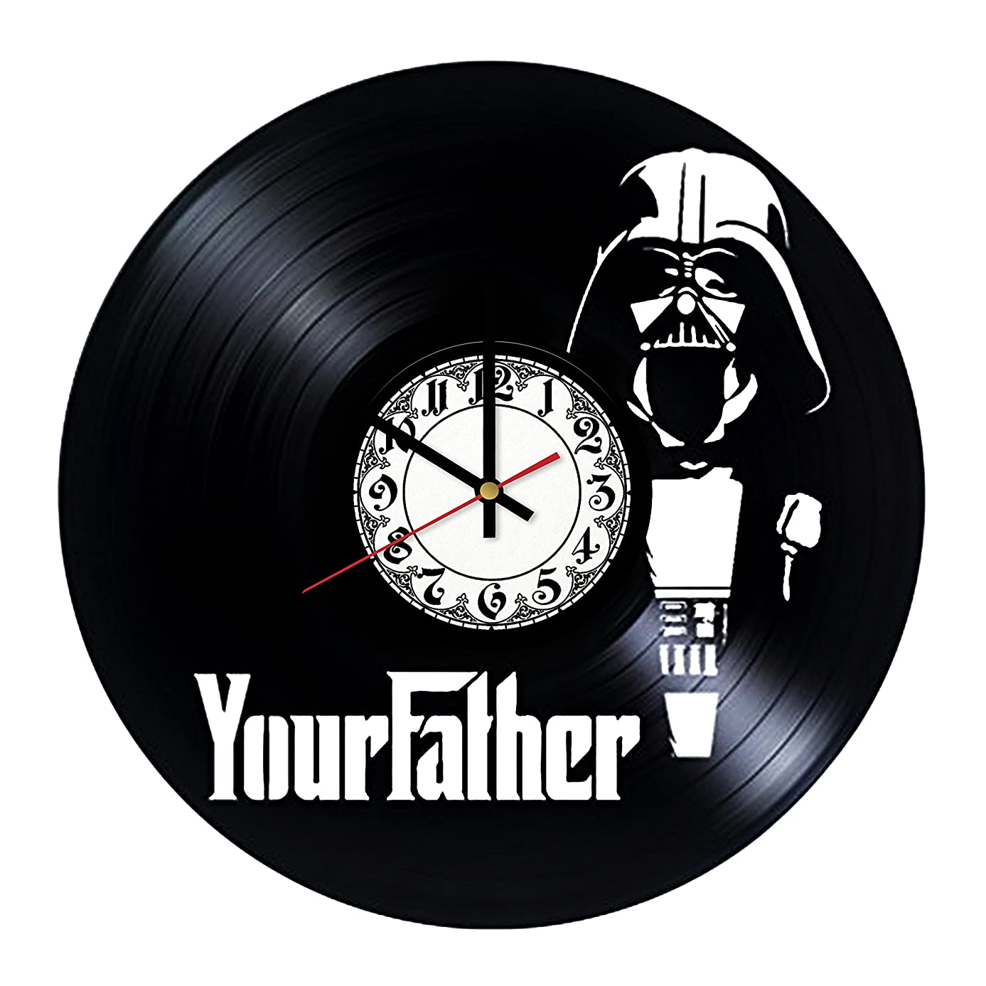 Darth Vader Your Father Star Wars Handmade Vinyl Record Wall Clock - Get unique room wall decor - Gift ideas for his and her – Modern Unique Home Art Design