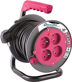 Electraline 10148026J Rallonge Prolongateur /électrique 15 m 16A section 3G1,5 mm/² blanc