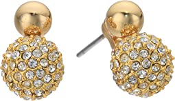 Rebecca Minkoff - Mini Double Sphere Pave Stud Earrings