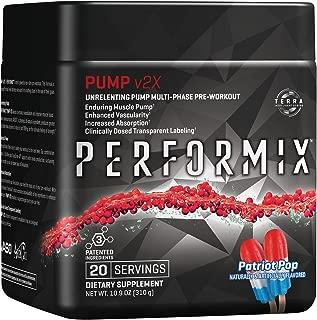 PERFORMIX Pump v2x Stimfree PreWorkout, Enduring Muscle Pump, 20 Servings, Patriot Pop