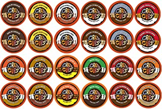 Crazy Cups Coffee, Chocolate Coffee & Flavored Coffee Variety Sampler Pack, Recyclable Coffee Pods for Keurig K Cup Machines, 48 count