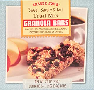 Trader Joes Sweet, Savory & Tart Trail Mix Granola Bars w/ Rolled Oats, Cranberries, Almonds, Chocolate Chips