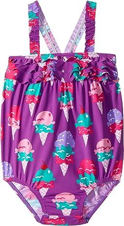 Hatley Kids - Ice Cream Treats Mini Ruffle Swimsuit (Infant)