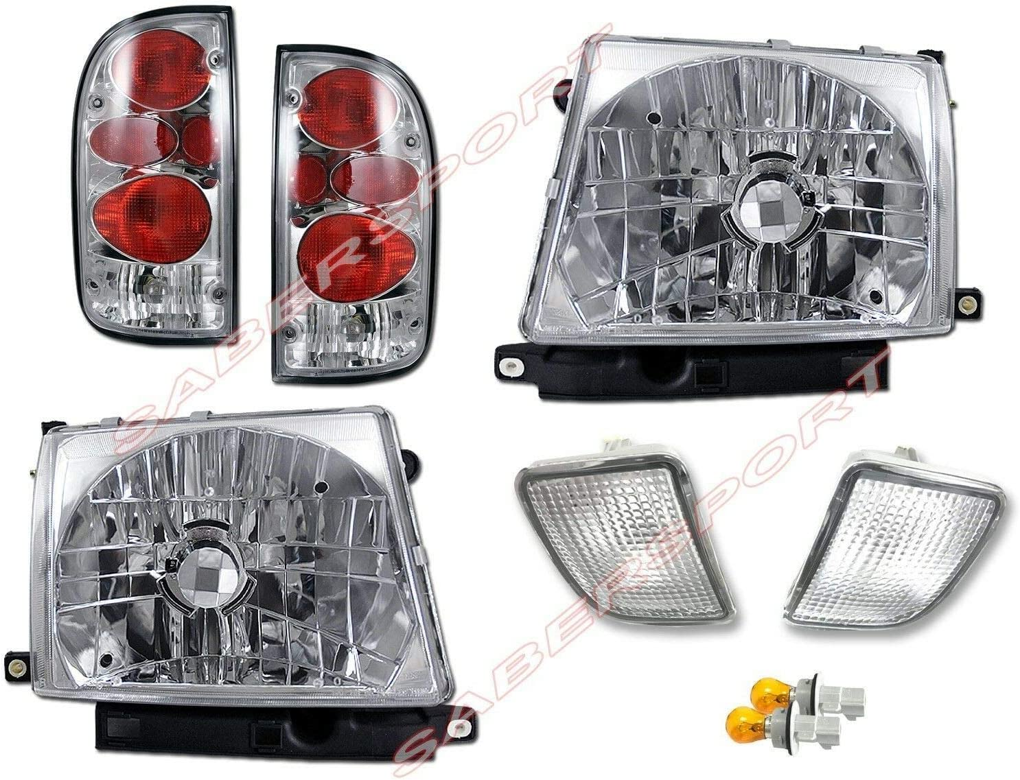 Set All items free shipping of Headlights + Popularity Bumper Lights 4WD Taillights for P 98-00