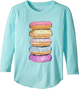 Chaser Kids - Long Sleeve Super Soft Donut Tower Tee (Toddler/Little Kids)
