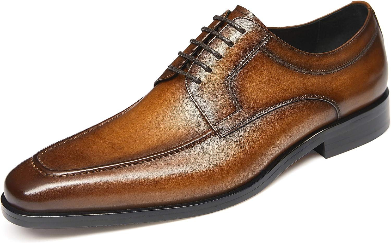 Men's Dress Shoes Oxford High order Black Casual Sh Brown 5 ☆ very popular