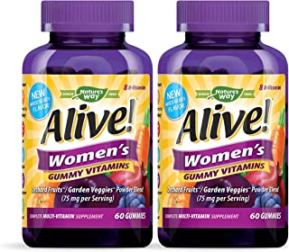 Nature's Way Alive! Women's Complete Multi Vitamin Gummy, 60 Gummies, Pack of 2
