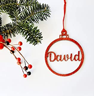 Bolas de Navidad de metacrilato glitter personalizadas ornamento para el árbol de Navidad