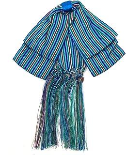 Bow tie charro Mexican party costum Elastic Band estripes Color Blue