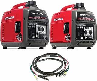 Honda 2200-Watt 120-Volt Super Quiet Portable Inverter Generators (EU2200i Generator w. EU2200IC and Parallel Cables)