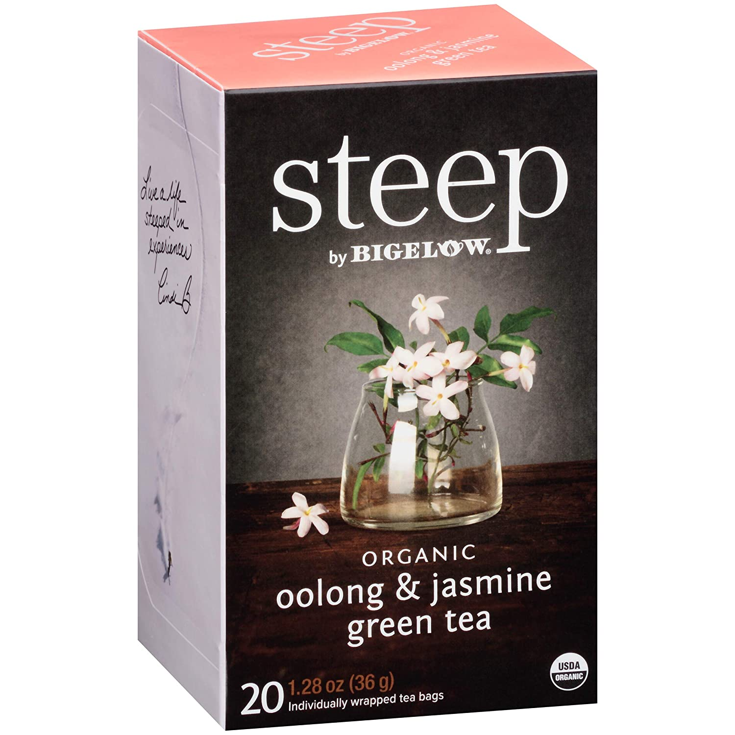 steep Organic Max 48% OFF Oolong with Jasmine Green Free shipping of Box Pack 20 Count 6