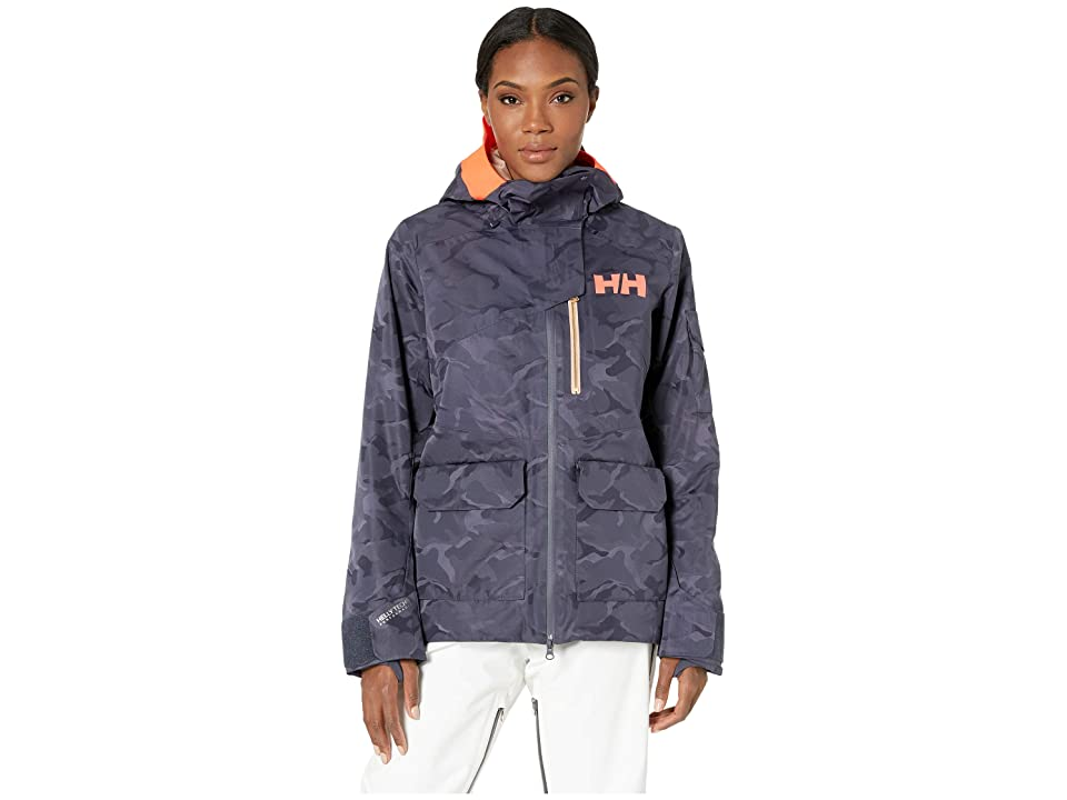 Helly Hansen Powderqueen 2.0 Jacket (Graphite Blue Camo) Girl