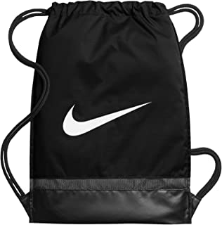 Nike Brasilia Training Gymsack, Drawstring Backpack with Zippered Sides, Water-Resistant Bag