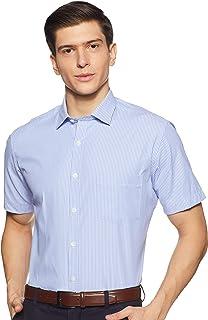 Excalibur Men's Solid Regular fit Formal Shirt (EXSHTME20007B11002_Blue 40)
