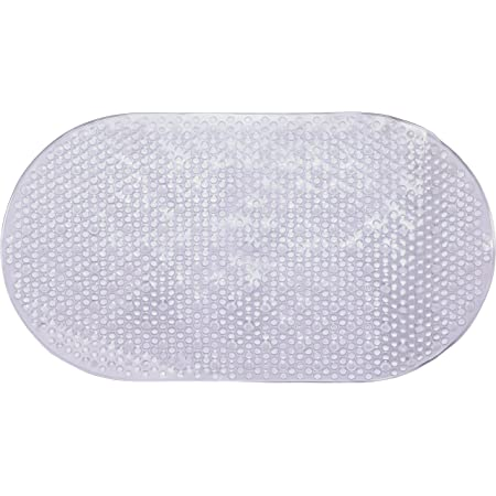 "Melange Non-Slip Anti-Bacterial Extra Long PVC Massage Bathtub Mat 39.5/"" x 16/"""