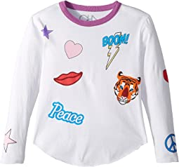 Chaser Kids - Vintage Jersey Flash Boom Kiss Tee (Little Kids/Big Kids)