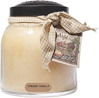 A Cheerful Giver Creamy Vanilla Papa Jar Candle, 34-Ounce, White