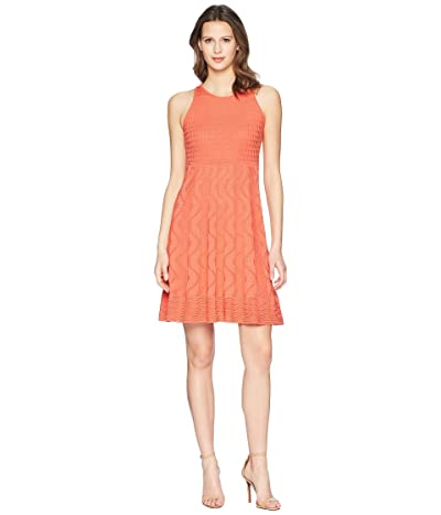 M Missoni Solid Knit Dress (Coral) Women