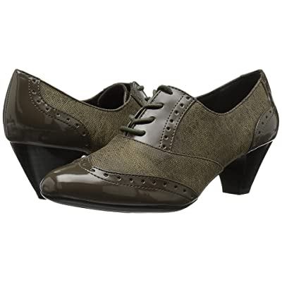Soft Style Gianna (Olive Night Faux Tweed/Patent) High Heels