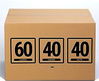 TeleCajas | (10x) Cajas de Cartón 60x40x40 cms | Una Onda