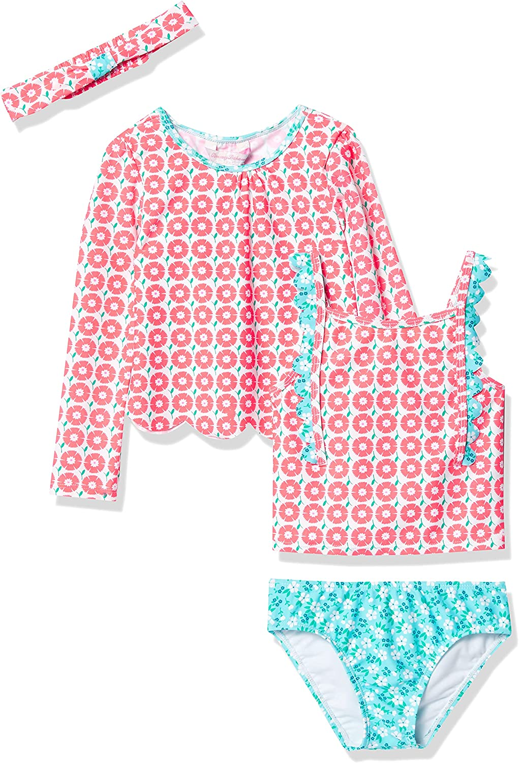 Tommy Bahama Girls' Rashguard Set We OFFer famous at cheap prices and Swimsuit Bottom