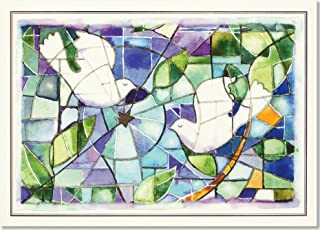 Stained Glass Doves Deluxe Boxed Holiday Cards (Christmas Cards, Greeting Cards)
