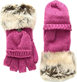 Timid Convertible Mittens with Faux Fur Trim (Infant/Toddler/Little Kids/Big Kids)