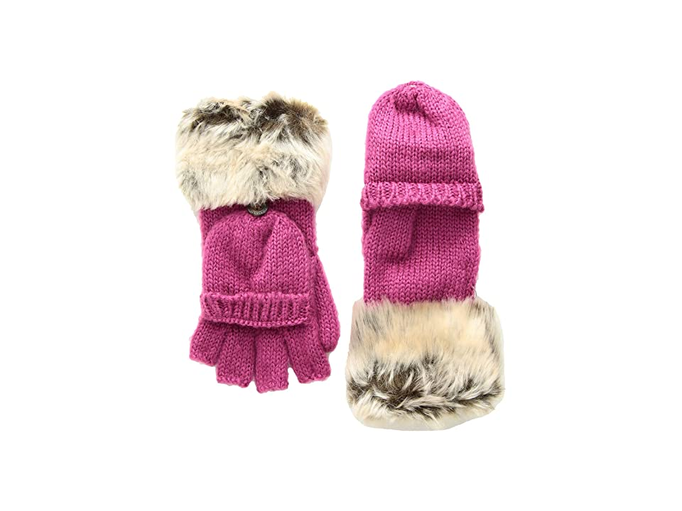 Appaman Kids Timid Convertible Mittens with Faux Fur Trim (Infant/Toddler/Little Kids/Big Kids) (Fuchsia) Snowboard Gloves