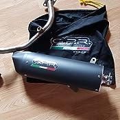 GPR Auspuff f/ür SUZUKI BURGMAN UH 125/2002//06/Komplettanlage zugelassen f/ür Scooter Serie Furore schwarz