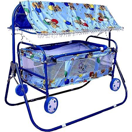 Avani MetroBuzz Baby Cradle Cot Cum Stroller (Blue)