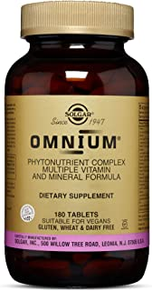 Solgar Omnium Phytonutrient Complex - 180 Vegan Tablets - Multivitamin and Mineral Supplement, Energy Booster, Antioxidant- Vegetarian, Non GMO, Gluten Free - 90 Servings