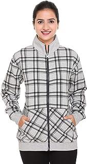 SHAUN Women'sFleece Round Neck Sweatshirt (B07HKH25LK_Grey_Pack of 1l).