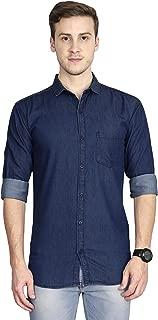 Signature Men's Full Sleeves Slim Fit Denim Casual Shirt