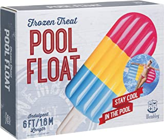 Wembley Frozen Treat Popsicle Pool Float, Giant Jumbo-Sized Ice Cream Inflatable Pool Toy for Parties, Summer Vacation, Beach, Camping, Lake, Road Trips, BBQ, and More