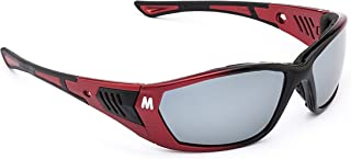 MORR STARRLEY Z7 Sport Sunglasses with Wraparound Mirrored Lenses and Protective Foam Padded Frame for Mountain Bike, Cycling, Motorcycle Riding