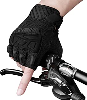 INBIKE MTB Gloves Motocross Mountain Bike DH Road Riding Half Finger Cycling Gloves